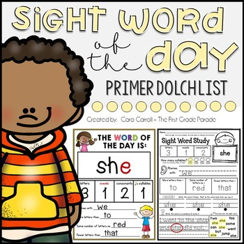 Sight Word Study Intervention - PRIMER