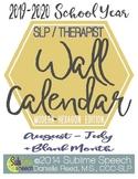 SLP 16-Month Wall Calendar: 2015