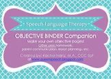 SLP Objective Binder Companion
