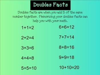 SMARTboard Doubles Facts