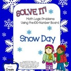SOLVE IT! Snow Day Math Logic Problems Using the 100-number Board