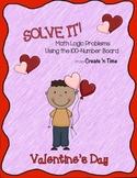 SOLVE IT! Valentine Math Logic Problems Using the 100-numb