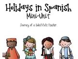 {SPANISH} Holidays Around The World  Mini-Unit