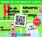 SPANISH QR Code Behavior Coupons FREEBIE