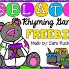 SPLAT! Rhyming Game {FREEBIE}