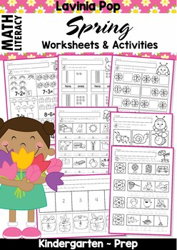 SPRING Math & Literacy Worksheets & Activities No Prep