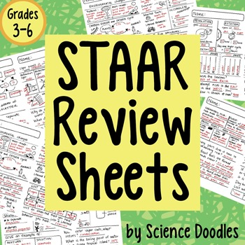 STAAR Review Test Prep Sheets