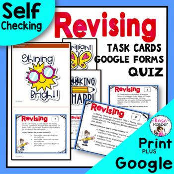 STAAR Writing Revising Task Cards & Bonus Free Quiz