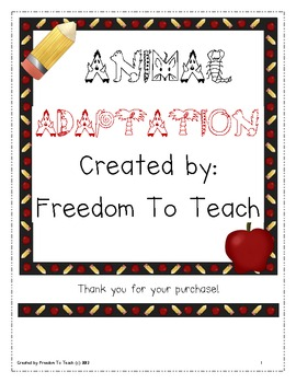 STEM: Animal Adaptations/endangered animals unit! Vocab &