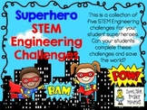 STEM Engineering Challenge Pack ~ Superhero Challenges ~ S