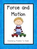 STEM: Inquiry Based Unit *FORCE & MOTION* Vocabulary*Study