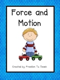 STEM: Inquiry Based Unit *FORCE & MOTION* Vocabulary*Study