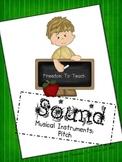 STEM! Sound/Pitch Experiment: music instrument plus essay