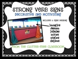 STRONG VERB MOTIVATIONAL SIGNS classroom decor bulletin board