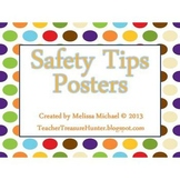 Safety Tips Posters ~ Dots Background - Water, Fire, Perso