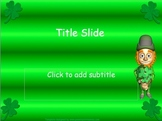 Saint Patrick's Day Powerpoint Template with Clipart