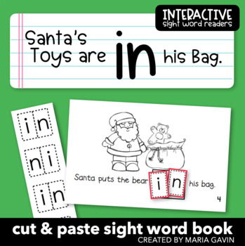 """Interactive Sight Word Reader """"Santa's Toys are in his Bag"""""""