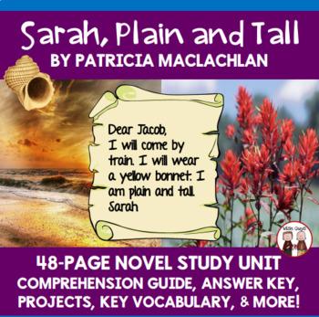 Sarah, Plain and Tall Novel Comprehension Activity Guide