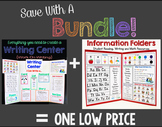 Save With A Bundle:  Writing Center and Information Folders