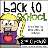 Savvy Second Grade Fun---Fun for the first week of school