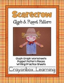 Scarecrow Glyph & Puppet Pattern Craftivity
