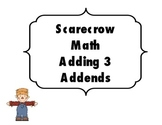 Scarecrow Math Add 3 Addends