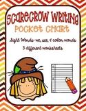 Scarecrow Pocket Chart Writing