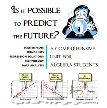 Scatter Plots, Trend Lines, Regression Equations and Data