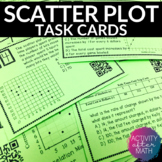 Scatter Plots and Line of Best Fit Task Cards with or with