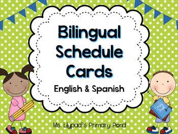 Bilingual Schedule Cards in English and Spanish
