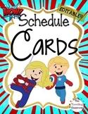 Schedule Cards {Super Hero}
