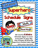 Schedule Signs: Superhero Theme