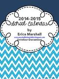 School Calendar 2014-2015: October-December