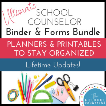 Editable School Counseling Growing Binder - Updates for Life