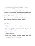 School Document Translation English/Spanish