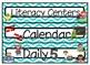 School Froggy Blue Chevron Daily Schedule