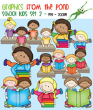 School Kids Set 2 - Clipart Graphics From the Pond