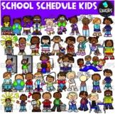 School Schedule Kids Clip Art Bundle