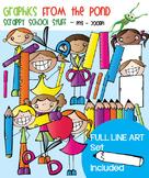 School Stuff Clipart - Scrappy School Stuff