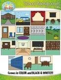 School Themed Background Scenes Clip Art Set — Includes 30