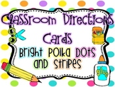School Tools/Classroom Direction Cards {Bright Polka Dots