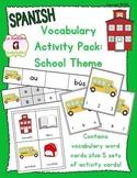 School Unit Vocabulary Literacy Activity Pack (Spanish)