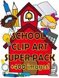 School clip art SUPER pack