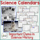 Science Calendars: Important Dates in Science History
