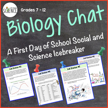 Science Chat: First Day of School Icebreaker Lab Activity for Biology