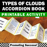 Types of Clouds Weather Unit Interactive Notebook Activity