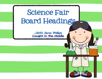 Science Fair Board Headings Freebie
