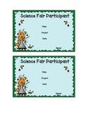 Science Fair Participant/Reminder