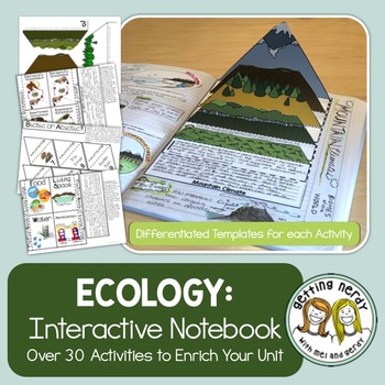 Science Interactive Notebook - Ecosystems, Food Chains, Webs, Cycles, & More!