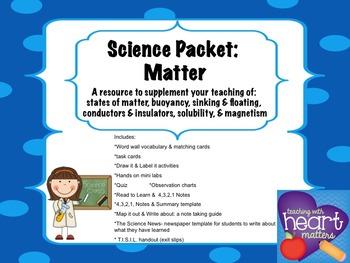 Science Packet: All about Matter